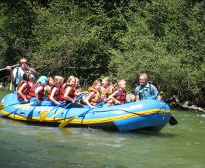 Rafting during the summer holidays