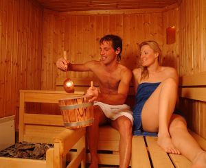 Enjoying the sauna in Schladming